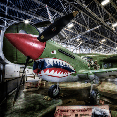 Curtiss P-40 Warhawk.