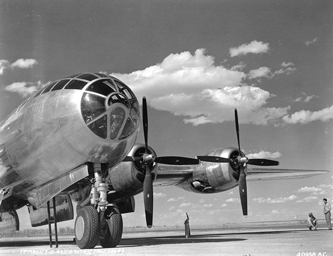 B-29 A1 Black and White Historic Photo