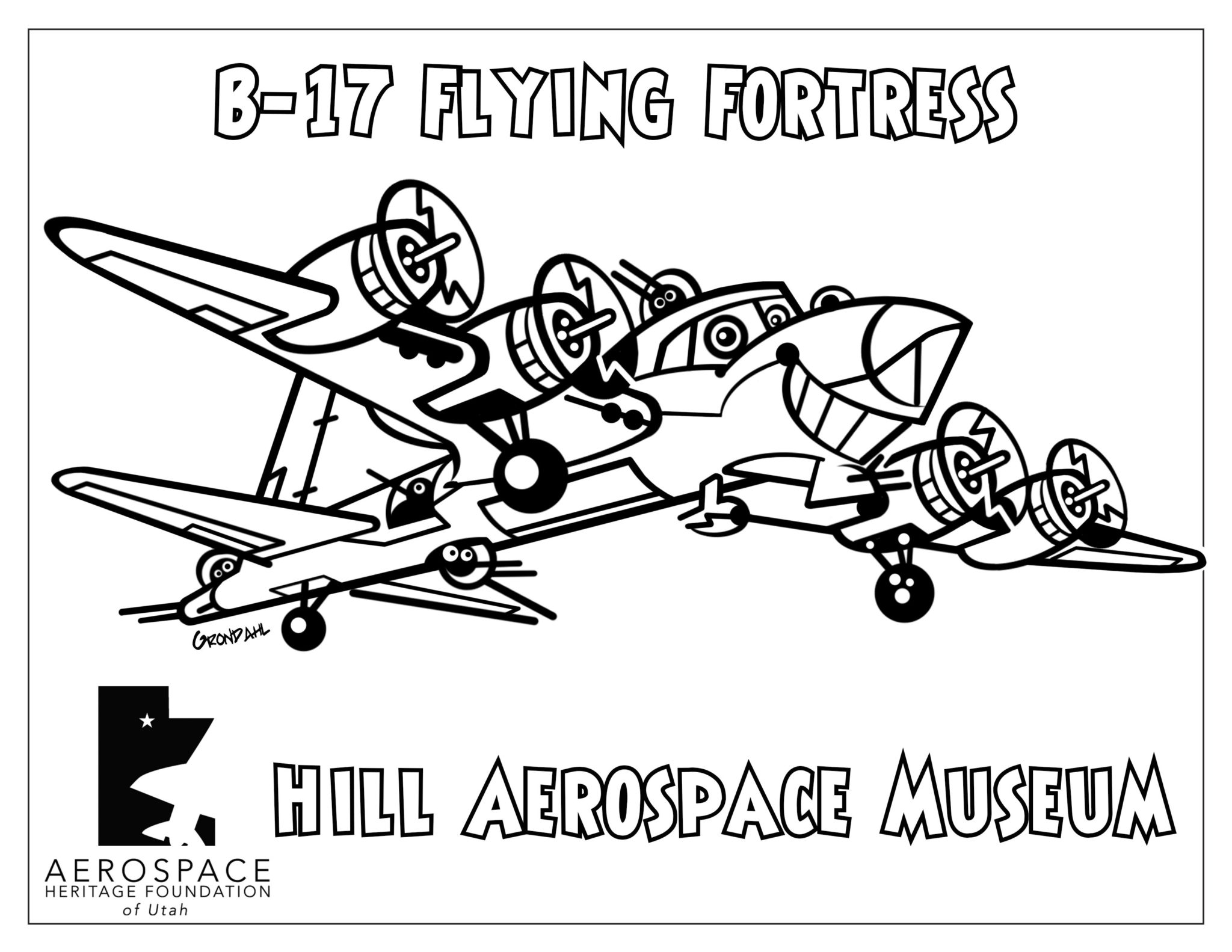 Boeing B-17 Flying Fortress Coloring Picture