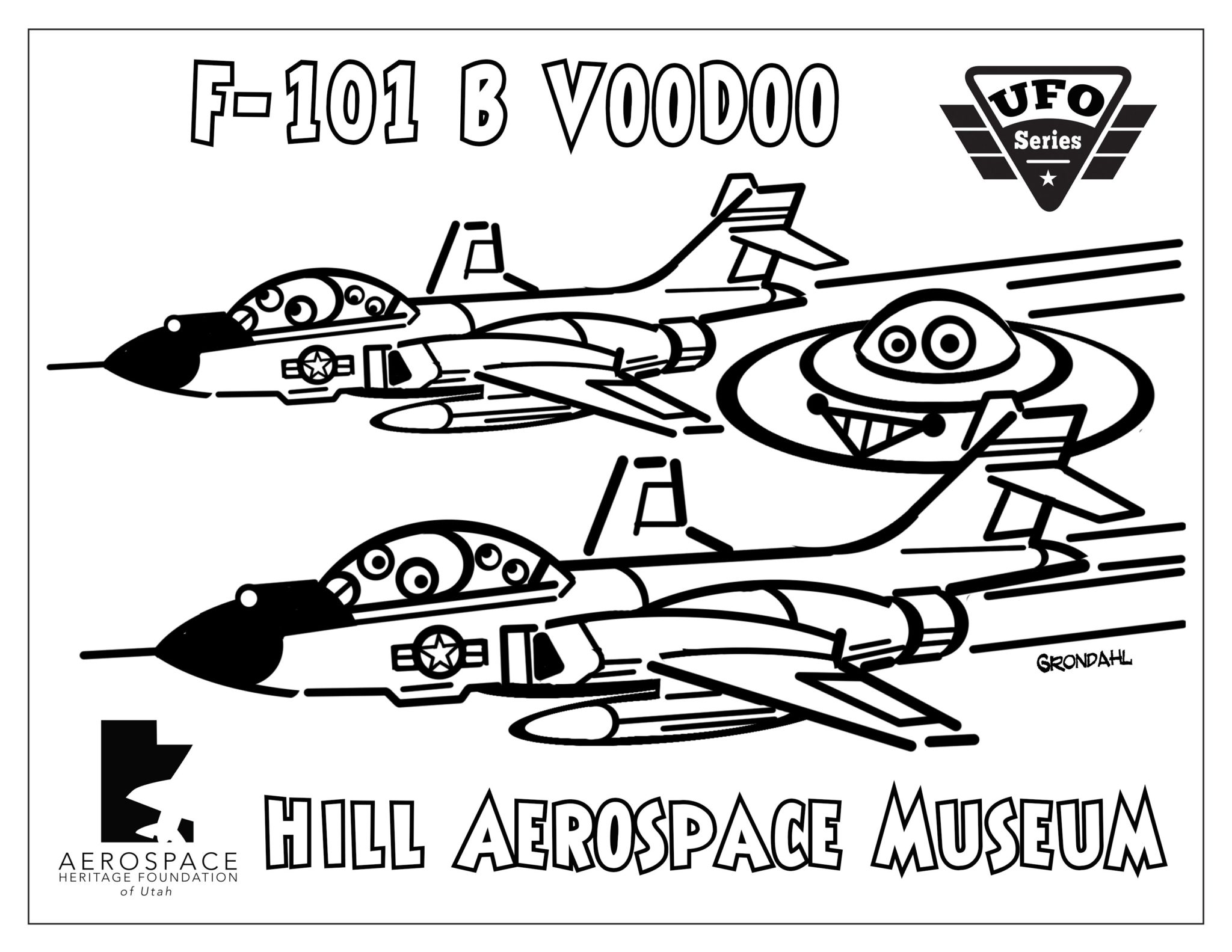 F-101 Voodoo Coloring Picture