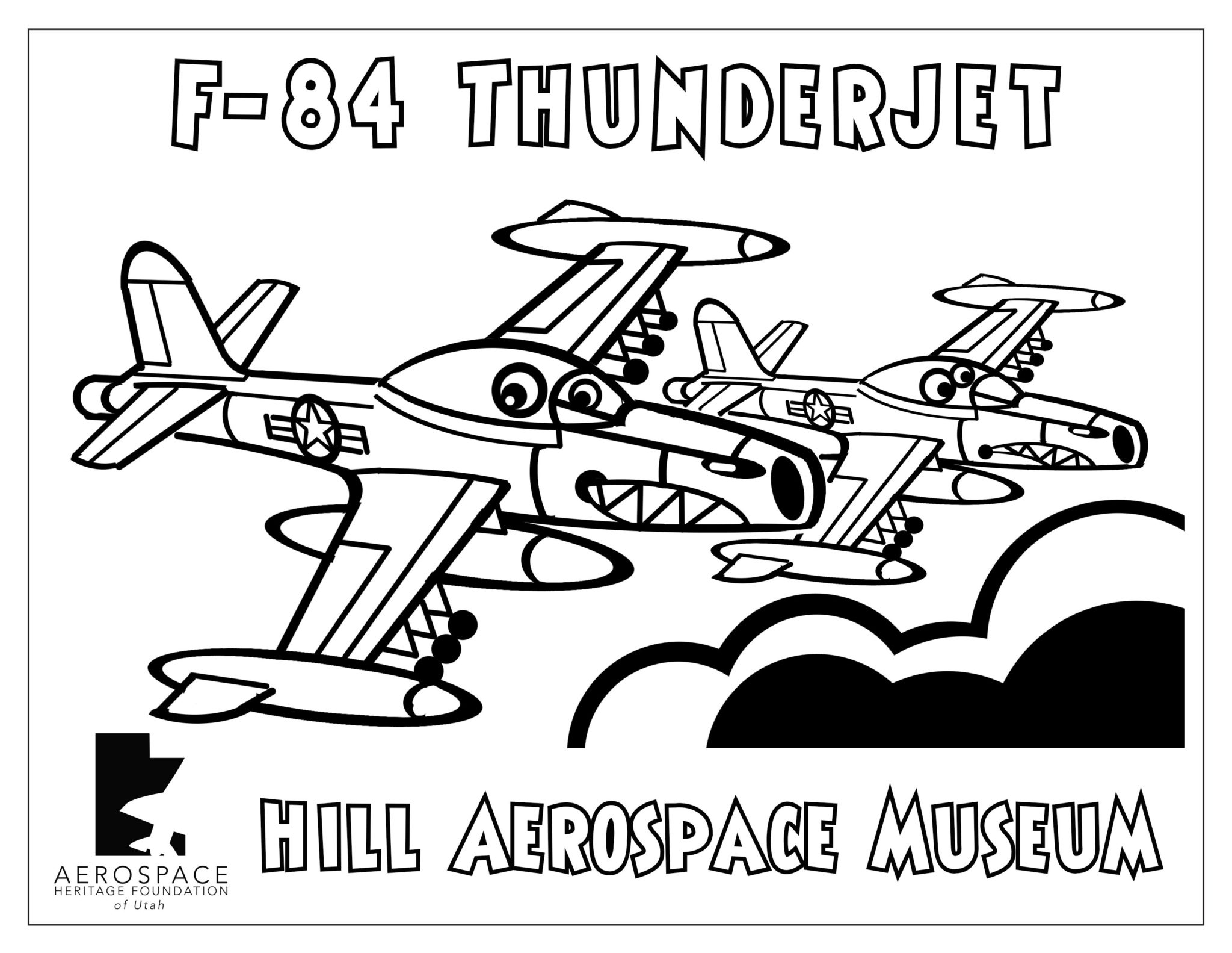 F-84 Thunderjet Coloring Picture