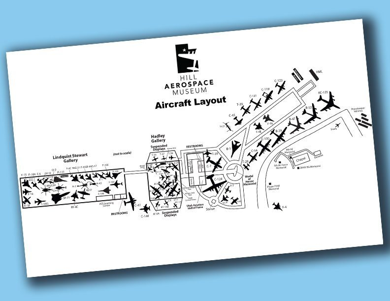 Aircraft Layout at Hill Aerospace Museum