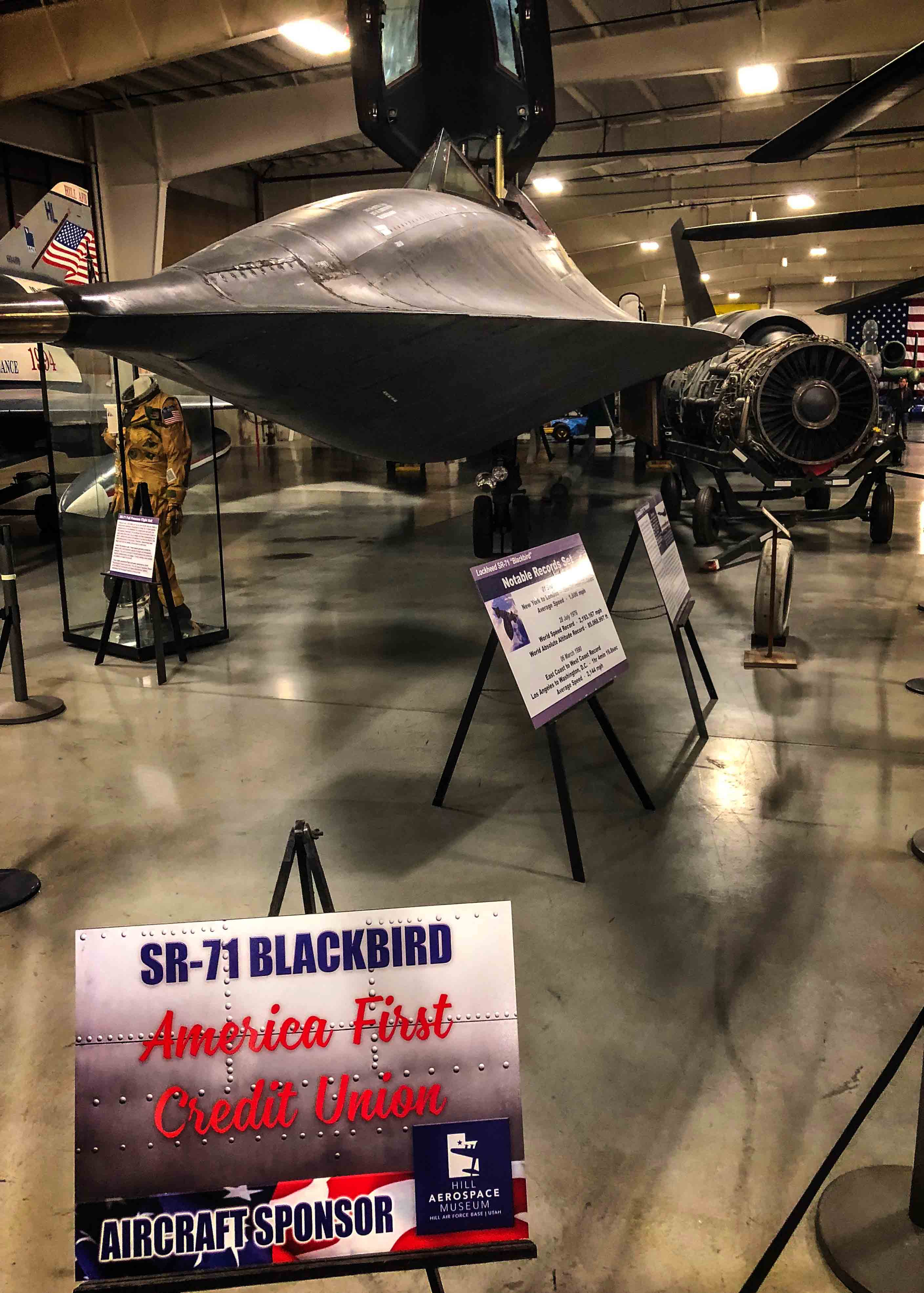 Sponsored Lockheed SR-71 Blackbird at Hill Aerospace Museum