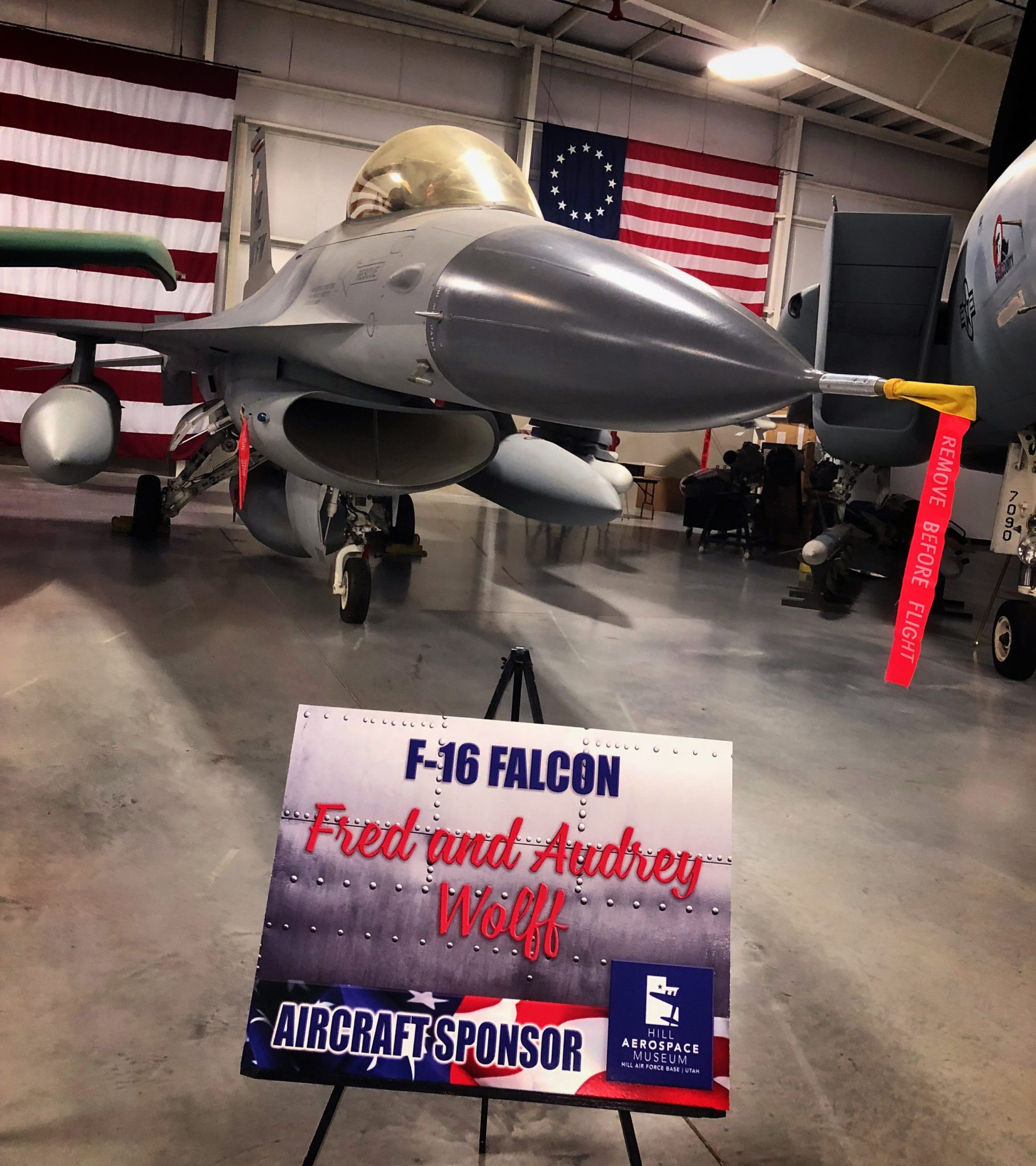 Sponsored General Dynamics F-16 Fighting Falcon at Hill Aerospace Museum