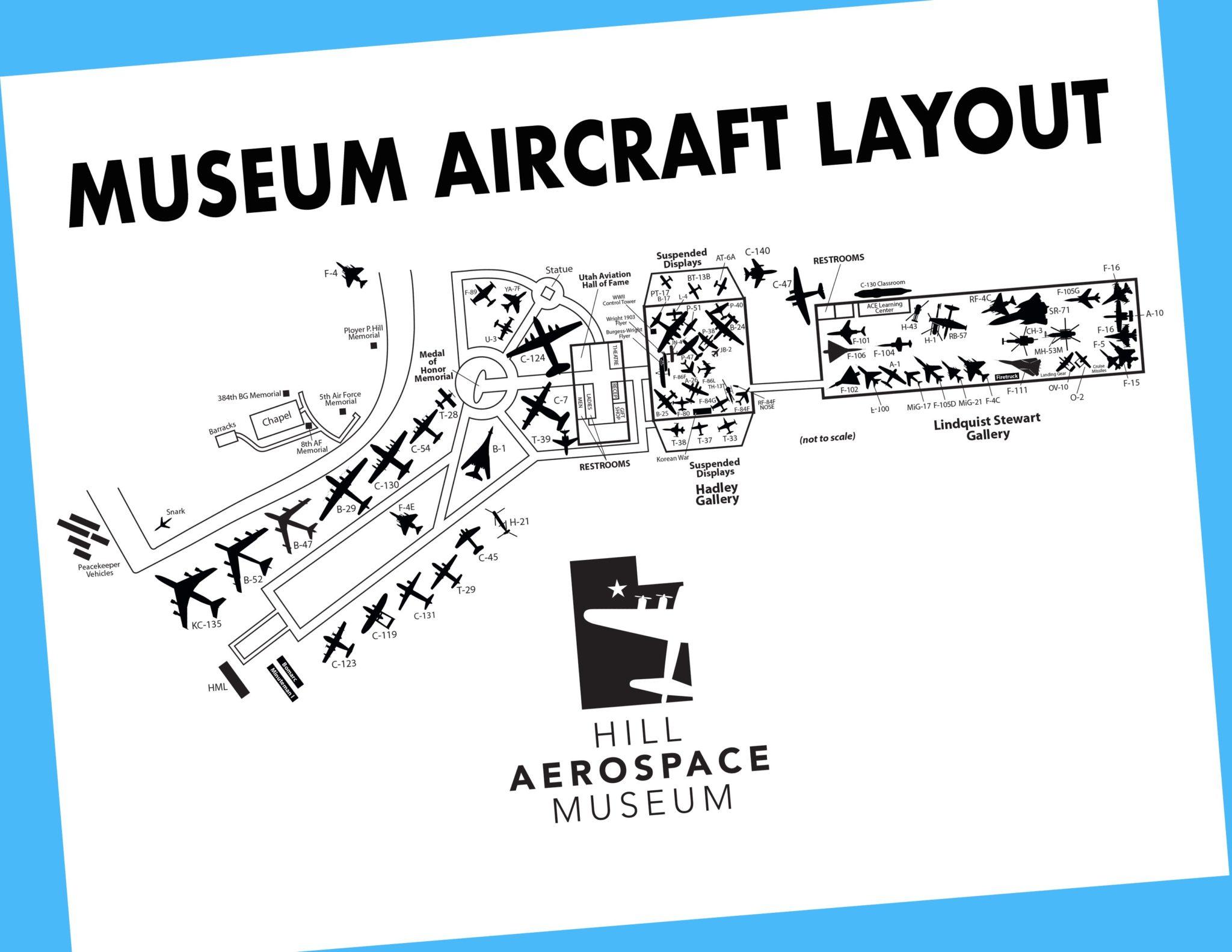 Aircraft Layout at Hill Aerospace Museum