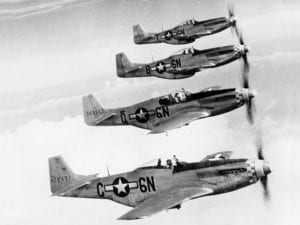 P-51 Mustangs from 505th Fighter Squadron