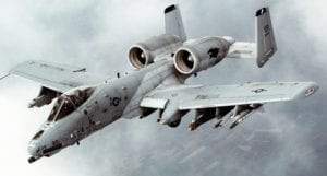 "The A-10 ""Thunderbolt II,"" or Warthog, as it's often called"