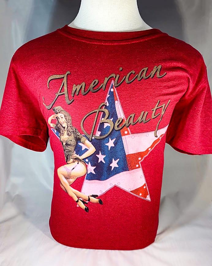 "Pinup ""American Beauty"" T-Shirt 1"