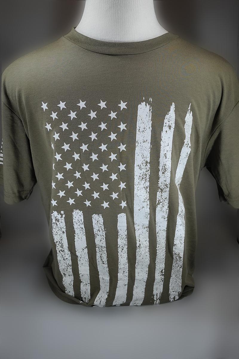 American Flag T-Shirt Green