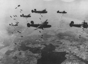 B-24's Bombing in Formation During WWII