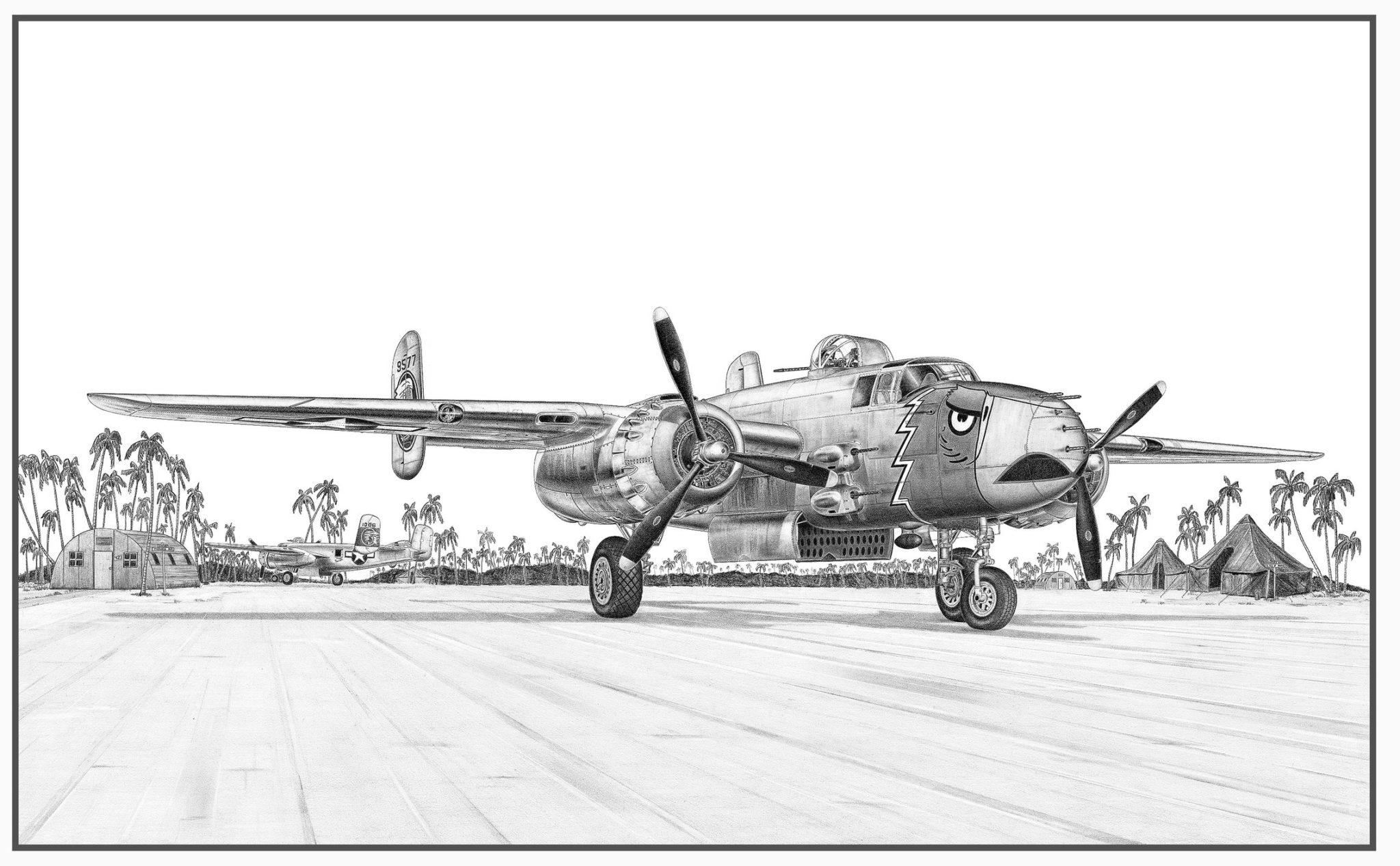 B-25J Mitchell Doug Kinsley Print