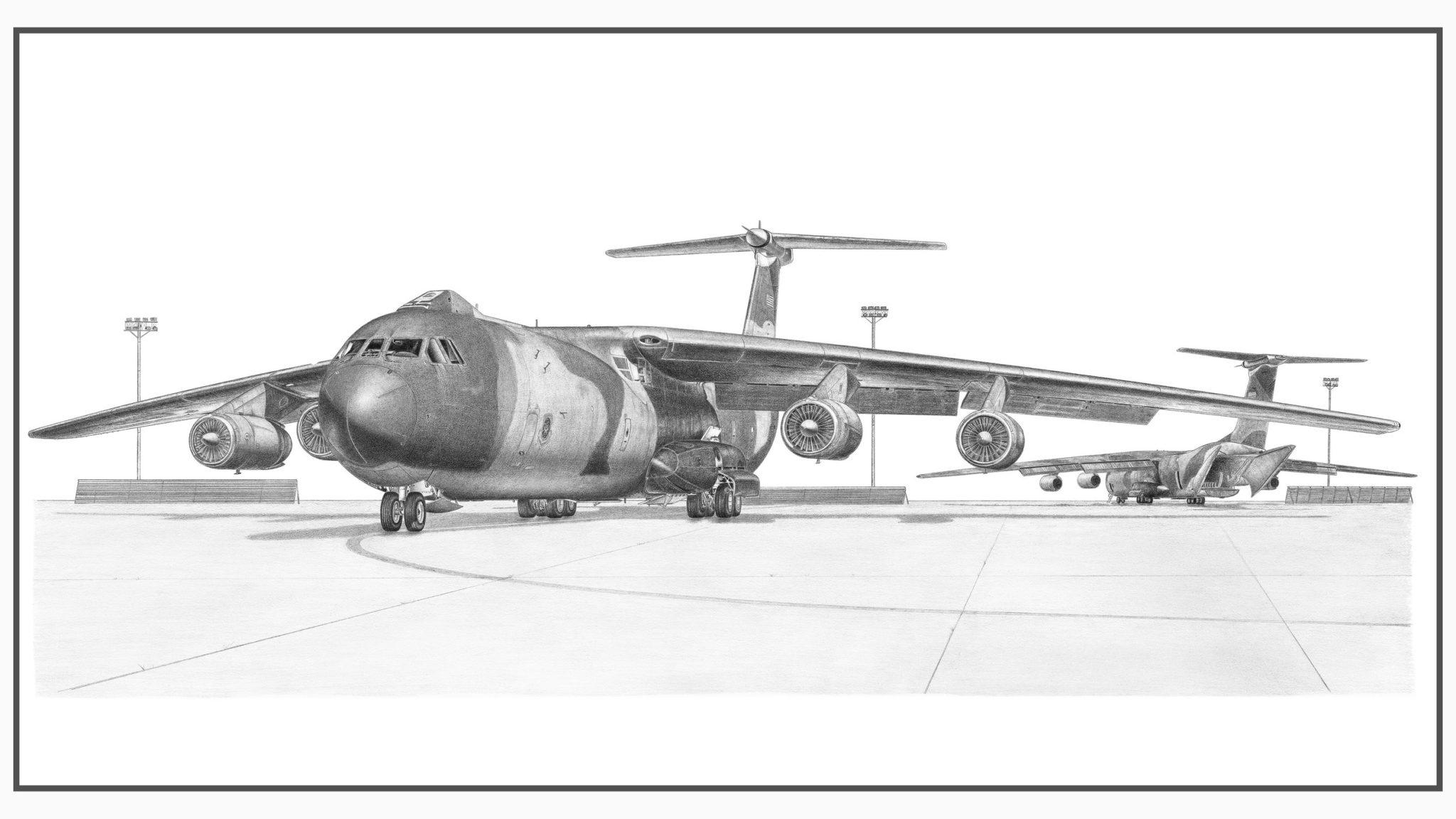 C-141B Starlifter Doug Kinsley Print 1