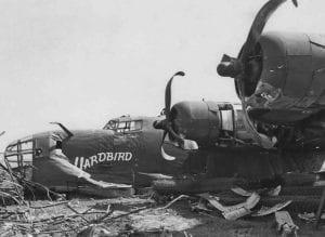 B-24 Yardbird After Belly Landing