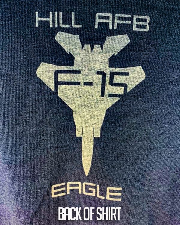 """Hill AFB F-15 """"Eagle"""" T-shirt Adult and Youth Sizes"""