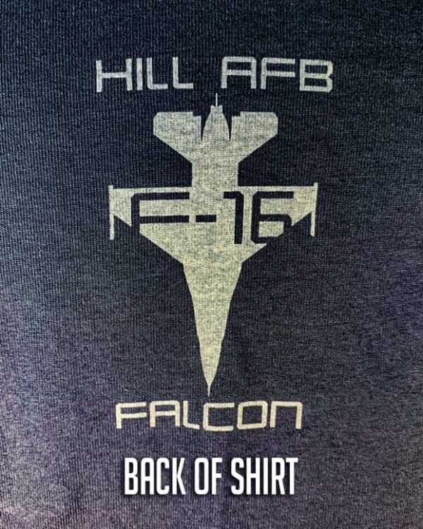 "Hill AFB F-16 ""Falcon"" T-Shirt Adult and Youth Sizes"