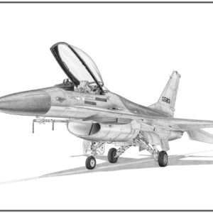 F-16A Fighting falcon Doug Kinsley print