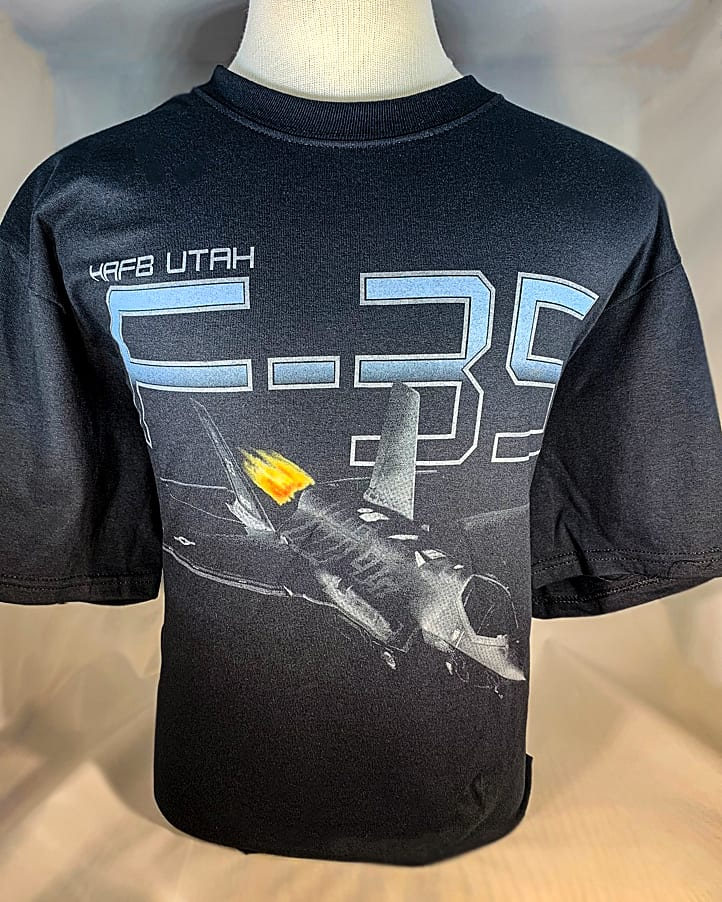 """Hill AFB F-35 """"Lightning II"""" T-Shirt Adult and Youth Sizes 1"""