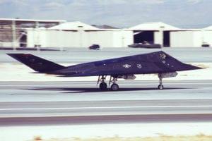 """F-117 Nighthawk stealth fighter """"Midnight Rider"""" #799 (Photo by Peter Boschert)"""