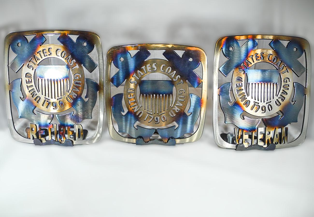 Metal U. S. Coast Guard