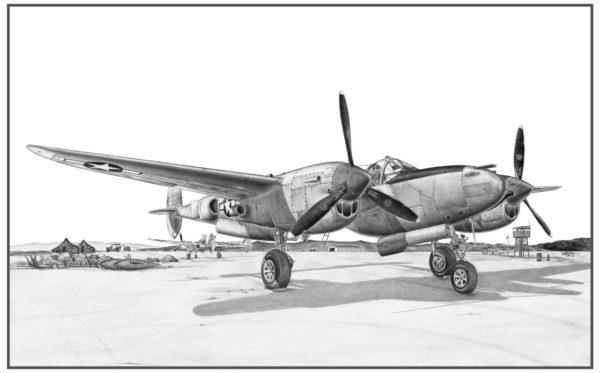 P-38J Lightning Doug Kinsley Print