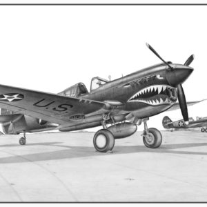 P-40E Warhawk Doug Kinsley Print