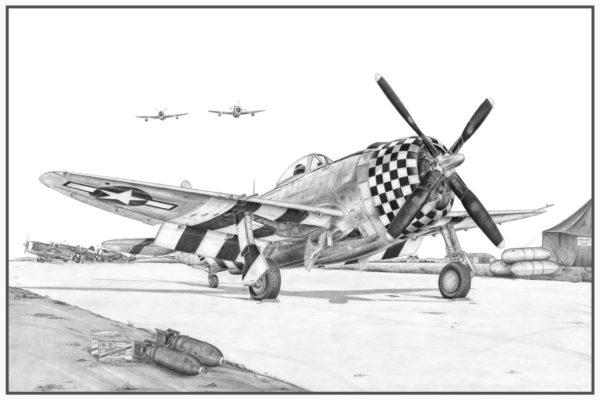 P-47 Thunderbolt Doug Kinsley Print