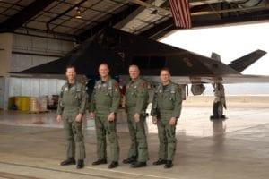 F-117 Nighthawk stealth fighter pilots