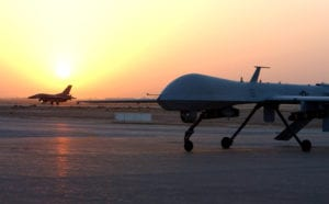 MQ-1 Predator Drone and F-16