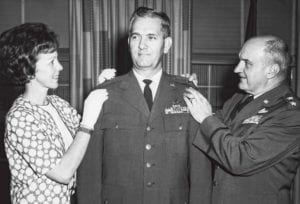 Jean Packer Pinning Promotion on Gen.Packer