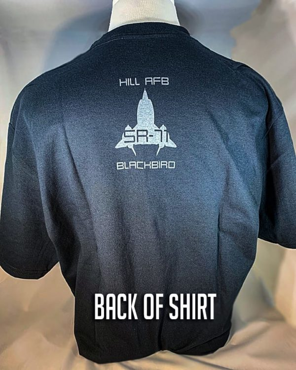 """Hill AFB SR-71 """"Blackbird"""" T-Shirt Adult and Youth Sizes"""