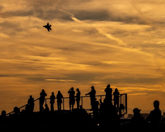 F-35 Lightning II Demo Team performs at airshow