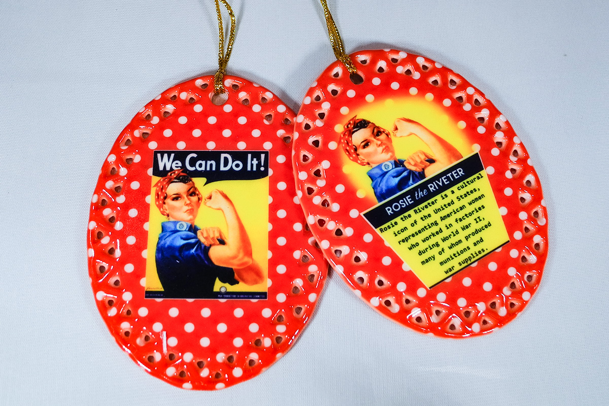 We Can Do It Ceramic Ornament