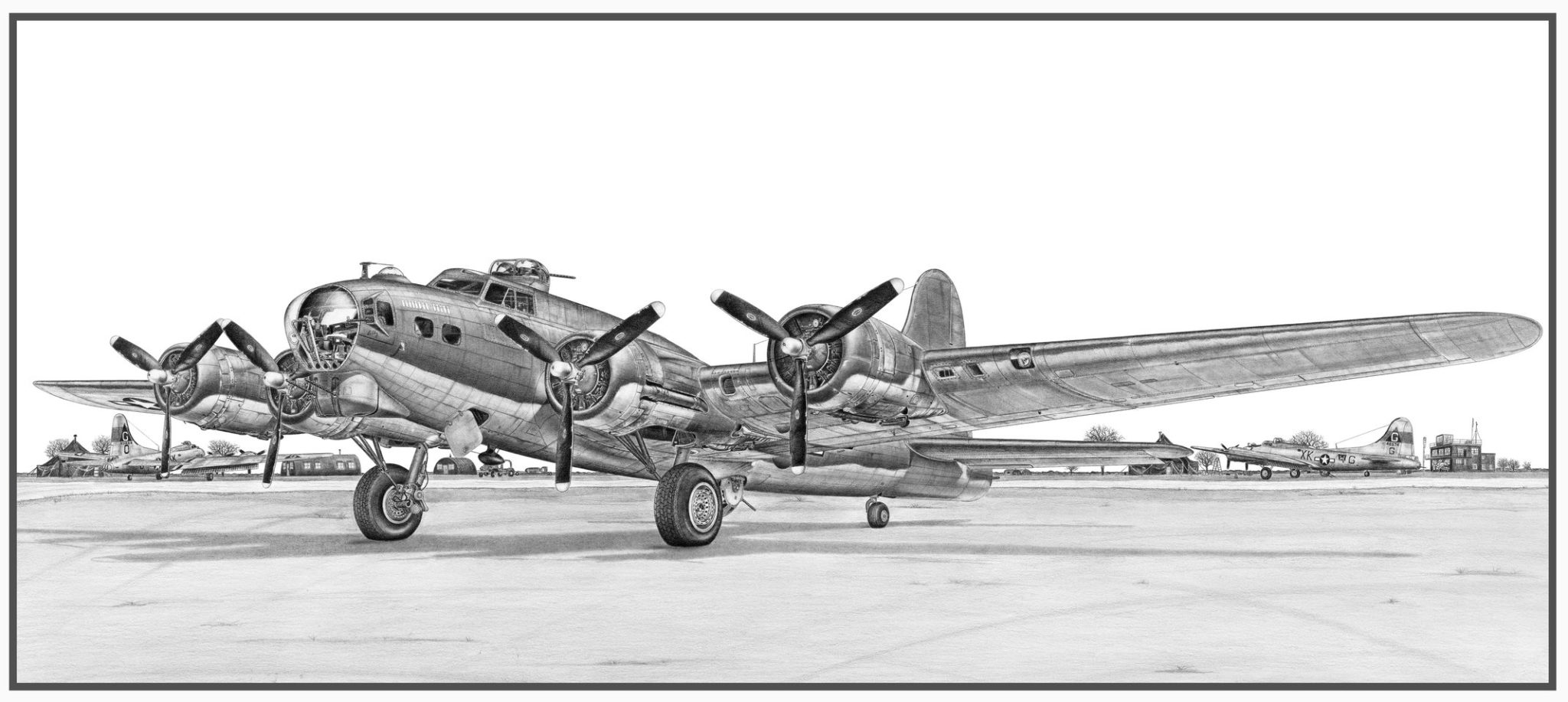 B-17G Fling Fortress Doug Kinsley Print 1